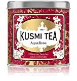 Kusmi Tea - AquaRosa - Red Berry Tea Blend with Hibiscus, Strawberry, Blackberries, and Elderberry - 8.8oz of All Natural Caffeine Free Loose Leaf Berry Tea in Metal Tin (100 Servings)