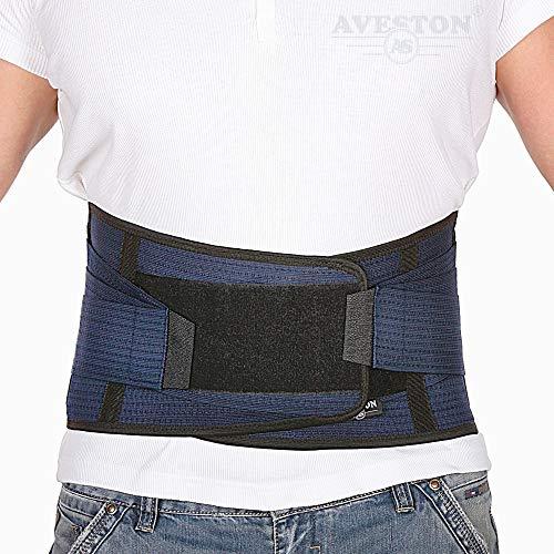 """Support dorsal L'attelle du bas du dos soulage les maux de dos - Ceinture de soutien lombaire respirante pour hommes et femmes garde votre colonne vertébrale droite et sûre - Grande taille 38 '' - 45 """"au niveau du nombril"""