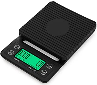5KG/0.1G Drip Coffee Scale With Timer Portable Electronic Digital Kitchen Scale High Precision LCD Electronic Scales(5KG/...