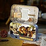 Germerse Meubles de Maison de poupée en Bois, Kits de Maison de poupée Miniature, kit de Maison de poupée Bricolage Kit de Maison de poupée Cadeau(Roaming in Winter)