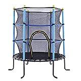 TBTBGXQ Kinder-Trampolin, Haushalts-Trampoline, Fitness-Sprungbett mit schützendem Drahtnetz, Heim-Trampolin für Outdoor/Garten