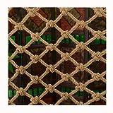 YINGJI Red de seguridad para escalar al aire libre, protección de jardín, red de carga, cuerda de columpio (cuerda de 8 mm, malla de 10 cm) para patios de pared (tamaño: 4 x 5 m)