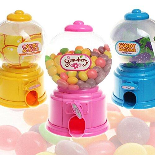 Faironly - Dispensador de Mini Bolas de Chicle con Forma de máquina expendedora, Caja de Ahorro de Dinero, Hucha, Juguete para niños, Color al Azar