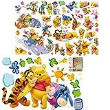 Kibi Winnie The Pooh Friends Pegatinas Winnie the Pooh Pegatinas de Pared de Winnie the Pooh Para Niños Stickers Winnie the Pooh Dormitorio Pegatinas Decorativas Pared Niña/Niño