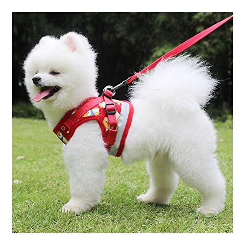 LINDANIG Chaleco Tipo Chaleco de Dibujos Animados para Perros No-Pull Arnés para Mascotas Ajustable Chaleco para Mascotas al Aire Libre Material Chaleco para Perros Control fácil para Perros medianos