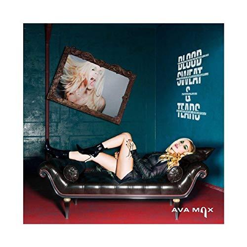 Albanisch-Amerikanische Sängerin und Songwriter Ava Max So Am I Albumcover Leinwandkunst-Poster und Wandkunstdruck, moderne Familienschlafzimmerdekoration, 30 x 30 cm, ohne Rahmen