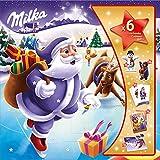 Milka Calendario Avvento - Mix di Delizioso Cioccolato al Latte Milka e Divertenti Sorprese per Bambini, 143g