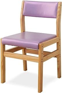 Sillas de comedor de cocina, sillas de comedor, para uso en el hogar, respaldo de computadora, decoración de uñas, decoración occidental, bar, salón, silla lateral de cocina (color: púrpura)