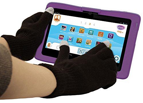 DURAGADGET Guantes Negros para Pantalla Táctil para La Tablet Cefatronic Tablet Clan/Clan 2 / Clan Tortugas Ninja/Advanced - Talla Mediana - ¡Ideales para El Invierno!