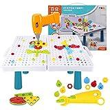 Colmanda Puzzles 3D Mosaicos Infantiles, 251 Piezas Tablero de Mosaico Juguete con Herramienta Tornillo, Puzzles 3D Montessori Juguetes Mosaicos Infantiles para Niños