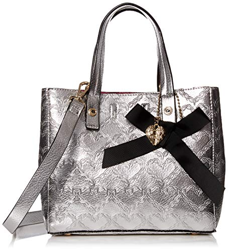 Betsey Johnson Shop Around The Clock Tote, Silver