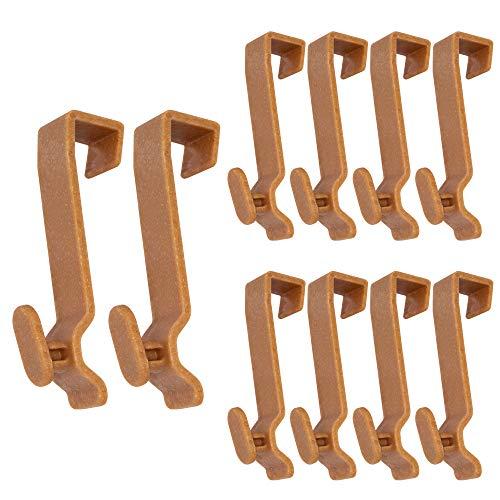 Türhaken aus 50% nachwachsenden Rohstoffen Holzfaser-Kunststoff Set 10 Stück.