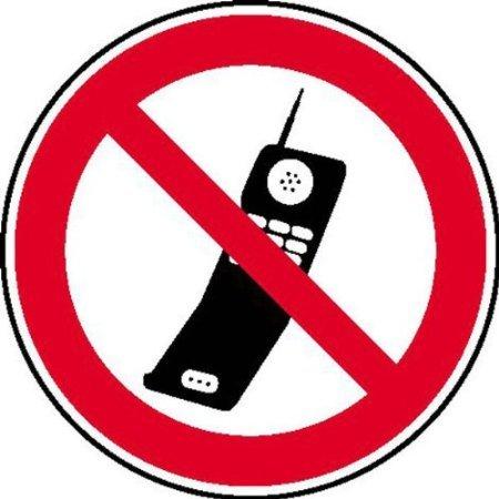 INDIGOS UG - Handy benutzen verboten Verbotsschild, selbstklebende Folie, Größe 40 cm