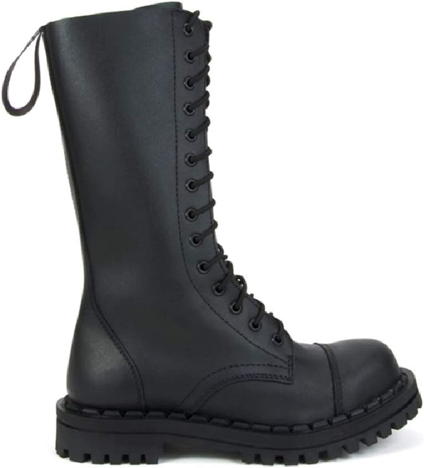 dfa8ef6f8f5af Altercore 352 Combat Boots Black Leather Ladies 14 Eyelets Military ...