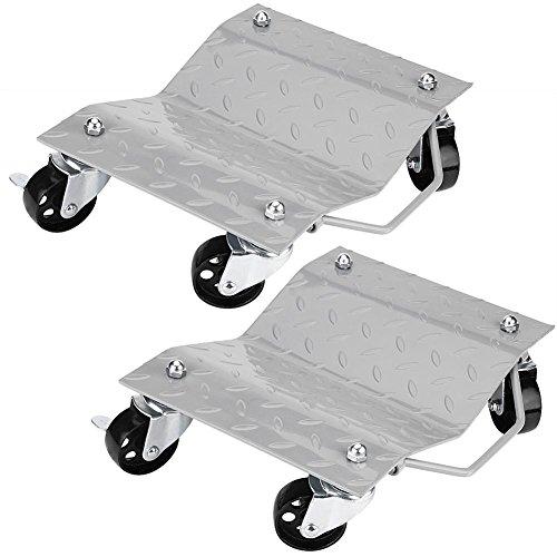 Cocoarm 2 PKW Rangierhilfe Rangierschalen Rangierroller Rangierheber Rangierhilfen Transportschale für Auto Tragkraft 1500 lbs Reifenbreite 27cm