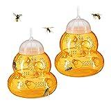 Pppby - Trampa para avispas con forma de reloj de arena, plástico no tóxico para abejas, para frutas, moscas, abejas