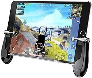 荒野行動 PUBG iPad タブレット 射撃ボタン 四本指操作が可能なジョイスティックグリップ一体型コントローラー 人体工学設計 フィットするグリップで疲れにくい iPhone/Android対応 (Bセット)