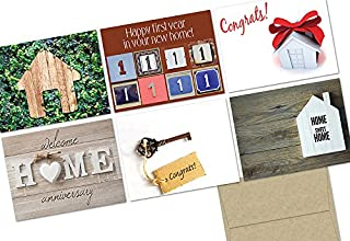 Home Sweet Home - 36 Note Cards - 6 Designs - Kraft Envelopes Included