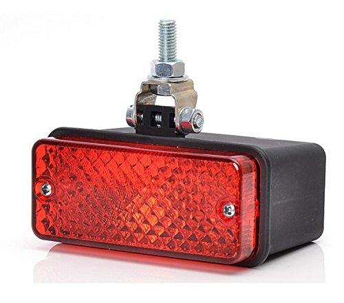 Rouge arrière brouillard lampe 12 V 24 V UNIVERSEL Pick Up Nouvelles lampes de récupération Camion Tracteur Remorque Caravane Camper Bus camping-car Agricole Socle basculant pour châssis Ampoule G05