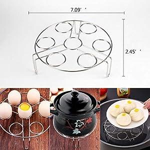 6 PACKS Accessories Steamer Basket Steamer Sets Steamer Base Springform Pan Egg Steamer Rack Silicone Oven Mitts Plate Dish Clip for Pressure Cooker Cooking Pot Steamer Pot Pan 4 5 6 8 qt