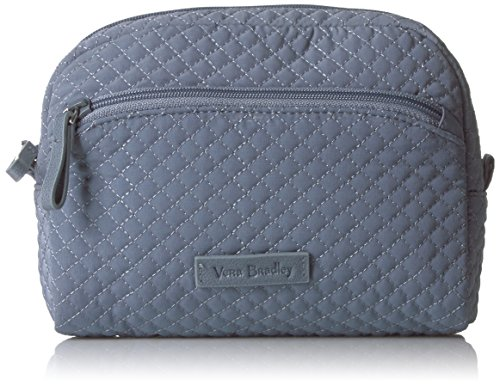 Vera Bradley Microfiber Medium Cosmetic Makeup Organizer Bag, Charcoal