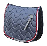 Rhinegold Wave Saddle Pad-Cob-Denim/Red
