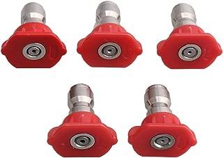 5PCS Pressure Washer Spray Nozzle Tips Multiple Degrees (0 Degree)