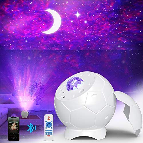 Fezax Proiettore Stelle, Romantica luce stellata con altoparlante Bluetooth e suono attivato, Proiettore Nebula Galaxy Light, 28 effetti di luce per camera da letto, casa