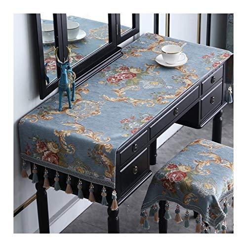 Nappe De Table, Rectangle Chemin De Table Élégant Table À Manger Protecteur Couverture Fait Main Tissu Doux Cuisine Décoration D'intérieur (Couleur : B-2, Taille : 60×200cm)