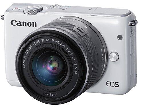 Canon ミラーレス一眼カメラ EOS M10 レンズキット(ホワイト) EF-M15-45mm F3.5-6.3 IS STM 付属 EOSM10WH-...