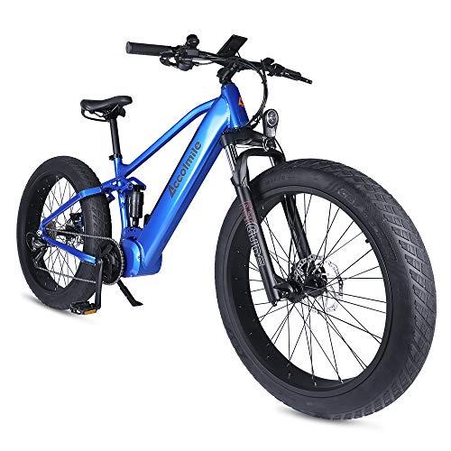 Accolmile Bicicletta Elettrica Mountain Bike Fat Tire 26 Pollici, motore centrale BAFANG 48V 750W,...