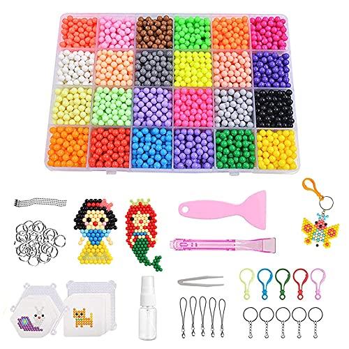 otutun Cuentas de Colores, perlas de agua mágicas, 3000 Piezas para DIY Arte y Joyería Making Pulseras Collares Bisutería,juego de relleno de perlas de agua para niños