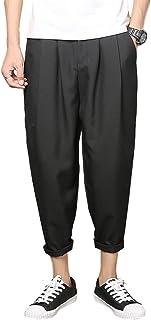 [サン ブローゼ] クロップドパンツ ワイド アンクル 九分丈 リラックス 涼しい 爽やか 綿 麻 M ~ 3XL メンズ