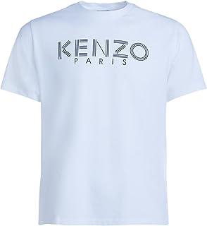 Kenzo Men's White T-Shirt with Printed Logo XL(INT) White