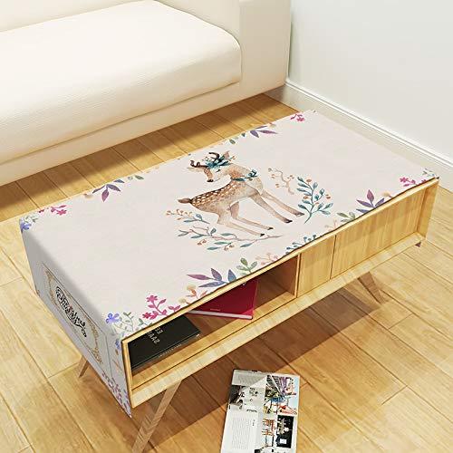 YXDZ Table Basse en Tissu Table en Tissu en Tissu Tapis De Table Couverture De Meuble TV Couverture Nordique Serviette F 70X180Cm