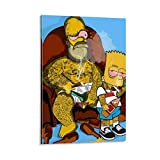 FUSHANG Animationsposter mit Homer Jay Simpson Bart,