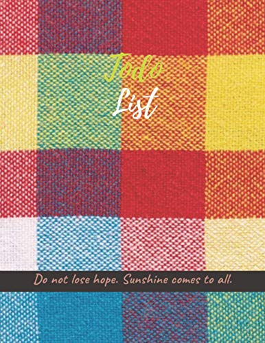 Make today great Task ToDoList, Plaid fabric brazilian festa junina background cover, 100 pages - Large(8.5 x 11 inches)
