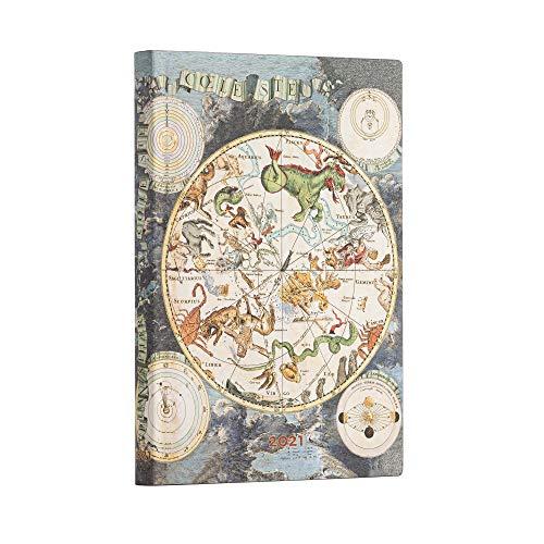 Paperblanks 12 Monate Softcover Flexis-Kalender 2021 Himmlische Karte | Horizontal | Midi (125 × 175 mm), FD6771-9