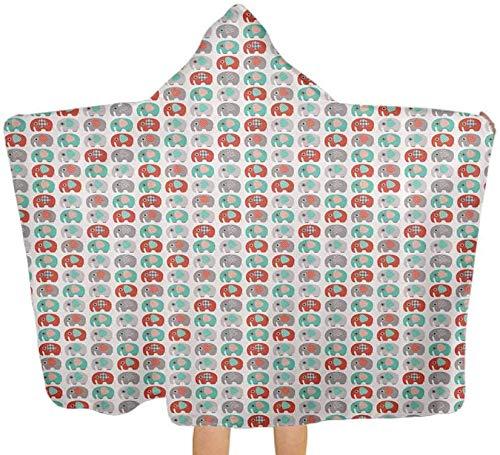 Toalla de baño grande con diseño de figuras lindas, poncho de toalla de playa con capucha para bebé, niño pequeño, 130 x 150 cm