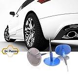 cogeek 24pcs/set Auto reparación de pinchazos de neumáticos sin cámara con cable con forma de champiñón parche de enchufe