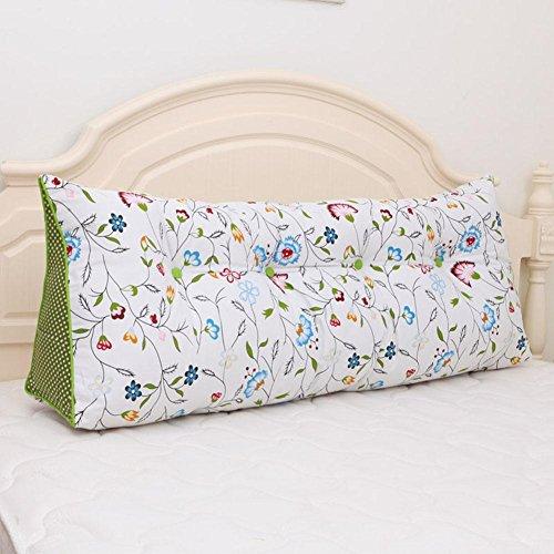 Z&HXTriangle lit Dossier Unique Double canapé Tatami lit Oreiller en Coton, D, 200 * 20 * 50cm