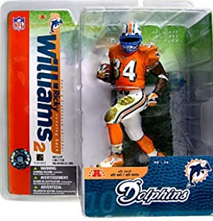 McFarlane Toys NFL Sports Picks Series 10 Action Figure Ricky Williams (Miami Dolphins) Orange Jersey Variant