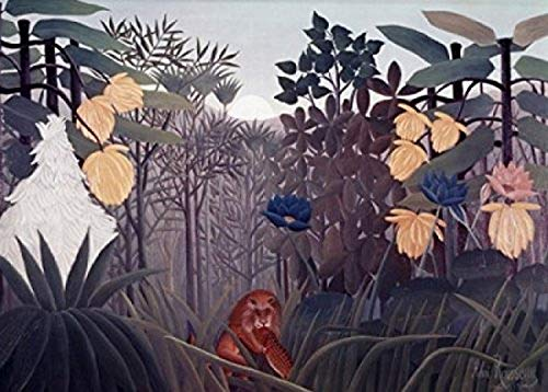 Posterazzi Repast of The Lion S.d. 1910 Henri Rousseau (1844-1910 French) Poster Print, (18 x 24) (Henri Rousseau The Repast Of The Lion)