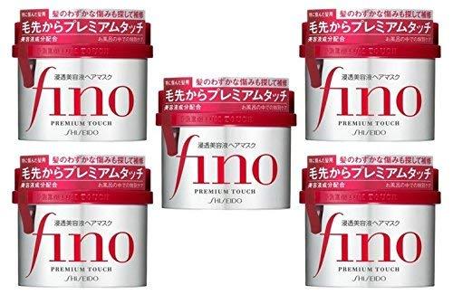 SHISEIDO FINO Premium Touch Hair Essence Mask (5 piece set)