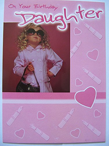Brilliant bunt glänzend beschichtet & Gedicht Tochter Geburtstag Grußkarte
