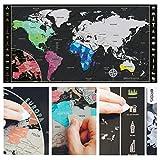 ORBIS Weltkarten® zum Rubbeln in Deutsch Rubbelweltkarte
