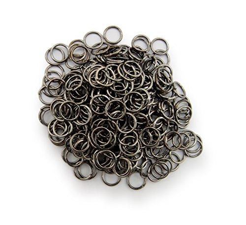 Binderinge / jump Rings 6mm Durchmesser Farbe Schwarz /