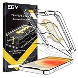 EGV Pellicola Protettiva iPhone 12 (6.1') Vetro Temperato,[3 Pezzi] [9H...