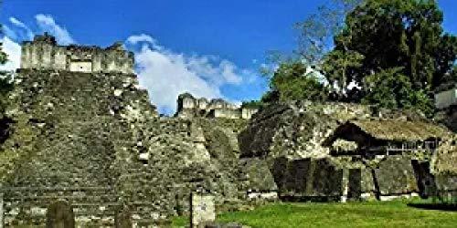 DMTWSM Guatemala Tikal Maya Architektur Landschaft Puzzle DIY Puzzle DIY Kit Holzspielzeug Einzigartiges Geschenk Wohnkultur Familienerziehung 1000 Pieces