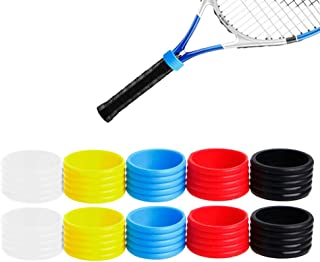 JooFn Tennis Grip Bands - Hold Overgrip in Place (Pack of 10)